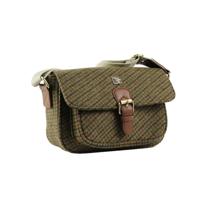 House of Tweed small satchel olive greenjpg